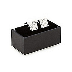 The Collection - Metal noughts and crosses cufflinks in a gift box
