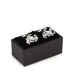 The Collection - Silver F1 racer cufflinks