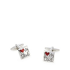 The Collection - Silver 'I love my Dad' cufflinks in a gift box
