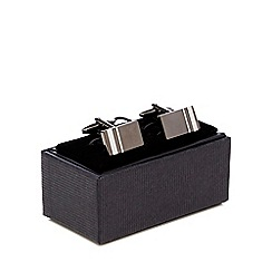 The Collection - Gunmetal two tone cufflinks in a gift box
