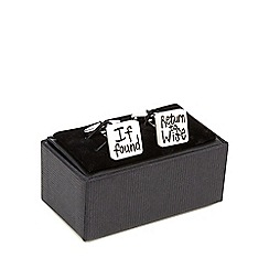 The Collection - Silver plated ' Return to Wife' cufflinks