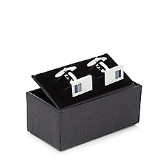The Collection - Blue insert cufflinks in a gift box