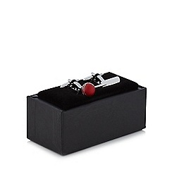 The Collection - Metal novelty cricket cufflinks in a gift box