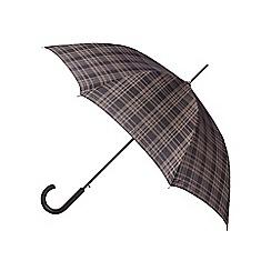 Fulton - Grey automatic checked umbrella
