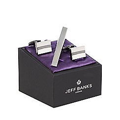 Jeff Banks - Silver tie bar and cufflinks set in a gift box