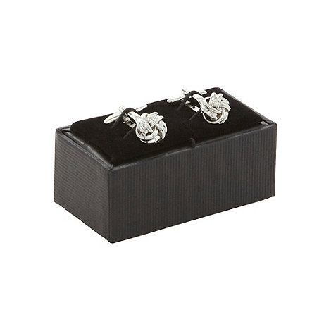 Thomas Nash - Silver knot design cufflinks