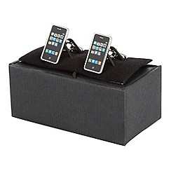 The Collection - Black iphone cufflinks in a gift box
