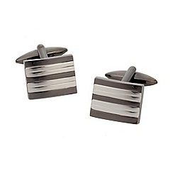 Thomas Nash - Silver striped cufflinks