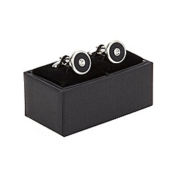 Thomas Nash - Black enamel stone cufflinks
