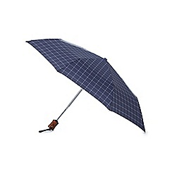 Fulton - Navy check umbrella