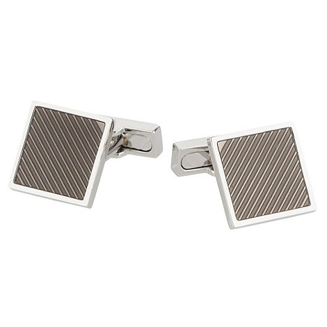 Osborne - Silver textured square cufflinks
