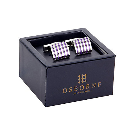 Osborne - Purple striped cufflinks