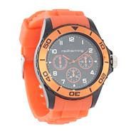 Men's orange bezel watch