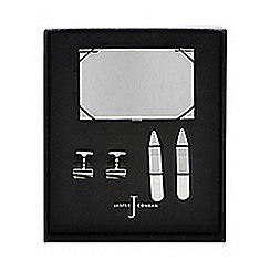 J by Jasper Conran - Card holder, cufflinks and tie stiffener set in a gift box