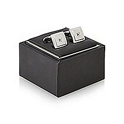 J by Jasper Conran - Silver square stone embellished cufflinks