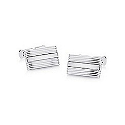 Hammond & Co. by Patrick Grant - Silver centre striped cufflinks