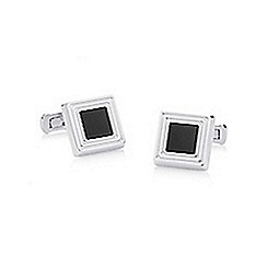 Hammond & Co. by Patrick Grant - Silver square stone cufflinks