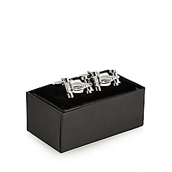 The Collection - Silver race car cufflinks