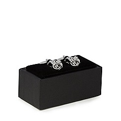 The Collection - Silver knotted cufflinks
