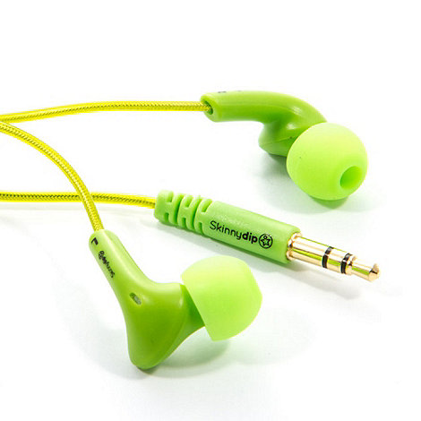 Skinnydip - Green noise isolation earbud earphones