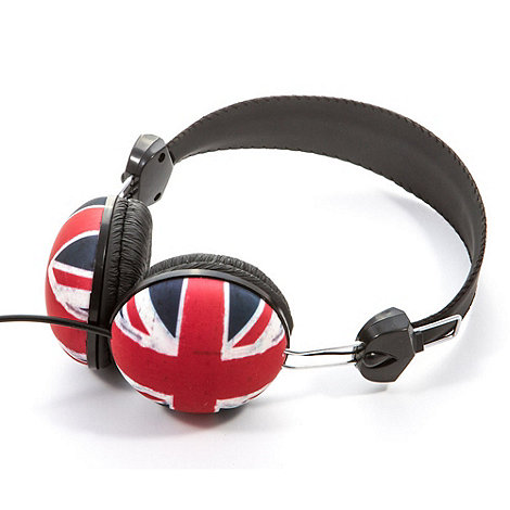 Skinnydip - Black 'Union Jack' base headphones