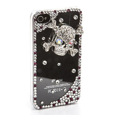 Skinnydip - Silver skull n bones iPhone 4 / 4s phone case