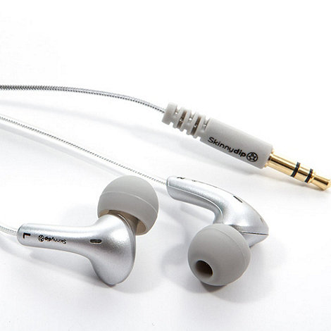 Skinnydip - Silver noise isolation earbud earphones