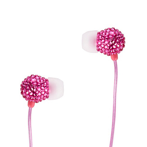 Skinnydip - Pink rocks in ear headphones