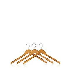 Osborne - Pack of three wooden coat hangers