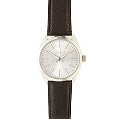 Infinite - Men's brown brushed analogue dial