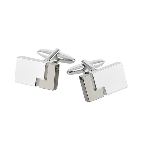 Thomas Nash - Silver tetris cutout cufflinks