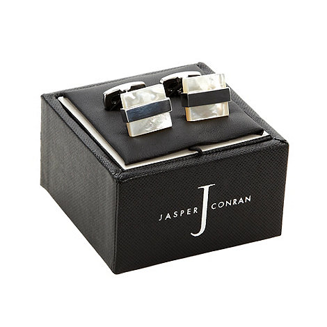J by Jasper Conran - Designer cream mother of pearl stone cufflinks