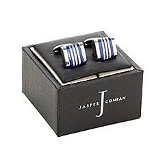 J by Jasper Conran - Designer blue stone striped cufflinks