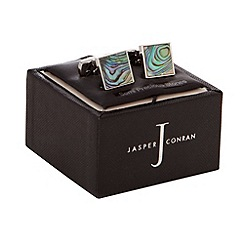 J by Jasper Conran - Grey Abalone stone cufflinks in a gift box