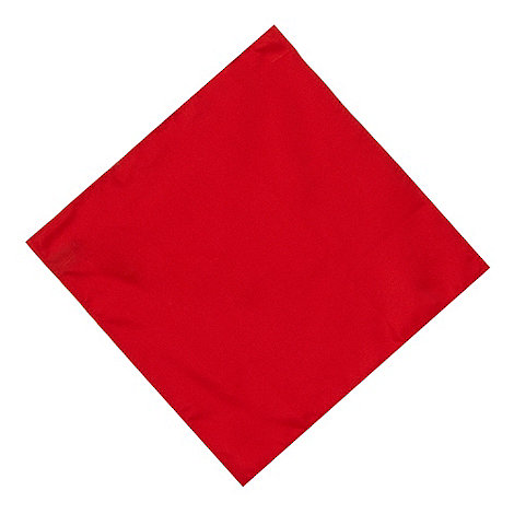 Osborne - Red plain silk pocket handkerchief