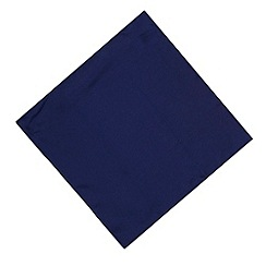 Osborne - Navy plain silk pocket handkerchief