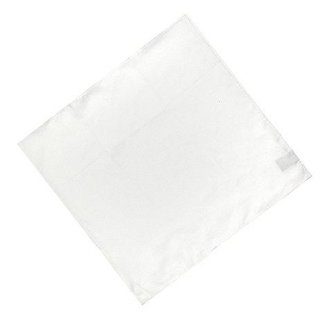 Osborne - White plain silk pocket handkerchief