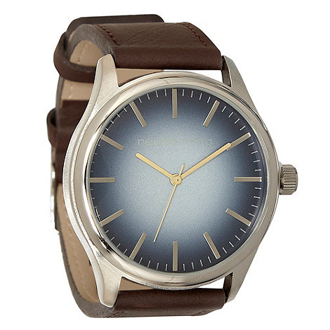 Red Herring - Men's brown strap graduating colour dial watch