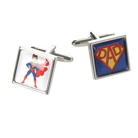 Thomas Nash - Silver +Super Dad+ cufflinks