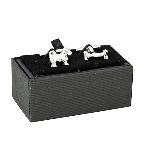 Thomas Nash - Silver dog and bone cufflinks