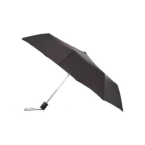 Fulton - Black compact automatic umbrella