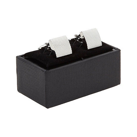 Thomas Nash - Silver square textured cufflinks
