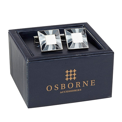 Osborne - Grey striped border cufflinks
