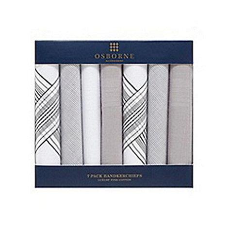 Osborne - Pack of seven grey handkerchiefs