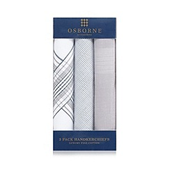 Osborne - Pack of three patterned luxury cotton hankies
