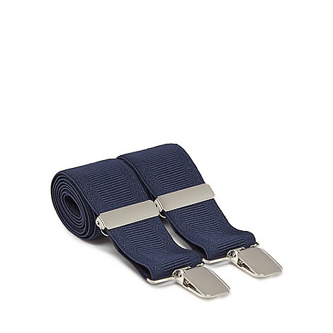 Osborne - Navy ribbed braces