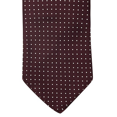 Osborne - Purple polka dotted silk pocket handkerchief