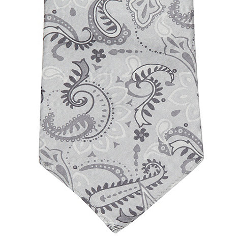Osborne - Grey paisley silk pocket handkerchief