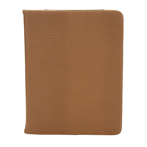 Skinnydip - Brown mock croc iPad flip case