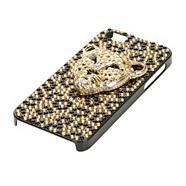 Gold diamante cheetah iPhone 5 case and screen protector